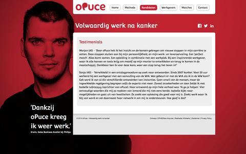 Screenshot of Testimonials Page opuce.nl - Testimonials - oPuce - captured Oct. 7, 2014