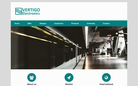 Screenshot of Home Page e-vertigo.com - Home - eVertigo - captured Oct. 20, 2017