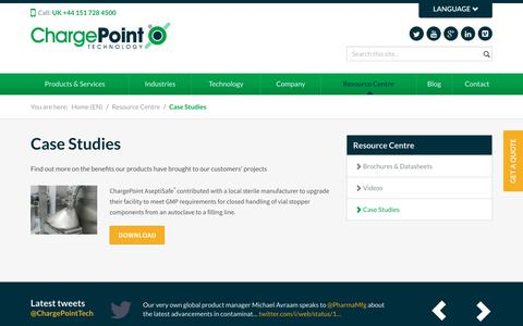 Screenshot of Case Studies Page thechargepoint.com - Case Studies  | ChargePoint - captured July 12, 2018