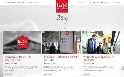 Screenshot of Blog lux-airport.lu - Blog Archives - Luxembourg Airport : Luxembourg Airport - captured May 24, 2017