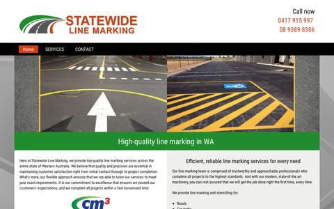 Screenshot of Home Page statewideline.com.au - Line Marking | WA | Statewide Line Marking - captured Oct. 18, 2018