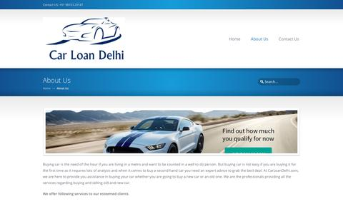 Screenshot of About Page carloandelhi.com - About Us – Car Loan - captured Sept. 27, 2018