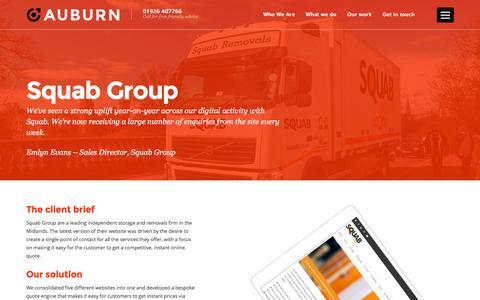 Screenshot of Case Studies Page auburn.co.uk - Squab Group - Auburn - captured Oct. 30, 2016