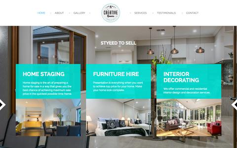 Screenshot of Home Page creativerooms.com.au - Creative Rooms - Home Staging Adelaide, Home Styling - captured Sept. 17, 2015
