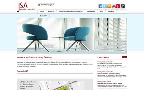 Screenshot of Contact Page jsacs.com - Office Furniture Consultants of JSA Consultancy Advice On Business Furniture For Sale - captured Oct. 6, 2014