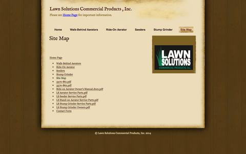 Screenshot of Site Map Page lawnsolutionscp.com - Site Map | Lawn Solutions Commercial Products , Inc. - captured Oct. 2, 2014