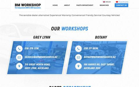 Screenshot of Contact Page bmworkshop.co.nz - Contact Us | BM Workshop - captured July 31, 2018