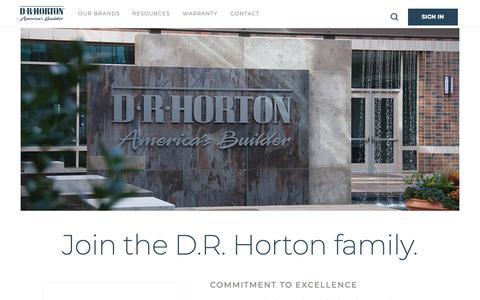 Screenshot of Jobs Page drhorton.com - DRHorton - Careers | D.R. Horton - captured Feb. 11, 2019