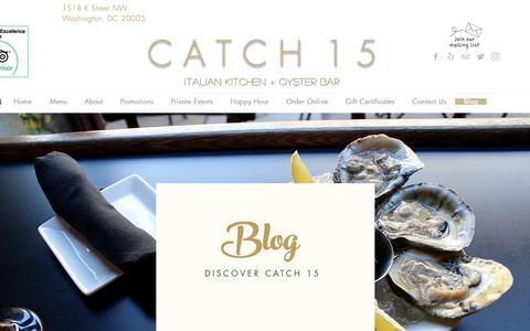 Screenshot of Blog catch15dc.com - Catch 15 | Blog - captured Sept. 27, 2018