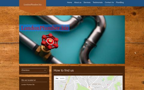Screenshot of Maps & Directions Page londonplumber.biz - LondonPlunber.biz Herne Hill London Plumbing - Directions - captured Feb. 7, 2018