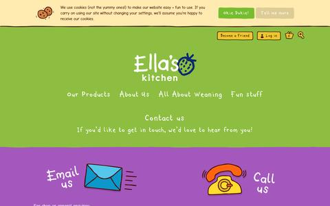 Screenshot of Contact Page ellaskitchen.co.uk - Contact us  | Ella's Kitchen - captured May 17, 2017