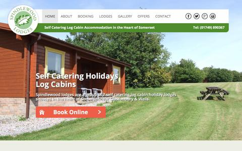 Screenshot of Home Page spindlewoodlodges.co.uk - Self Catering Log Cabins Somerset | Short Breaks - Spindlewood Lodges - captured Nov. 5, 2017