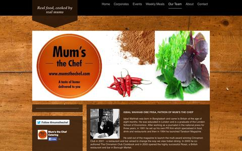 Screenshot of Team Page mumsthechef.com - Awards won by Mums the Chef - captured Sept. 30, 2014