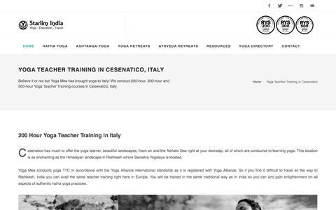 Yoga Teacher Training in Cesenatico, Italy