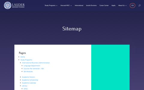 Screenshot of Site Map Page lbs.ac.at - Sitemap - LBS - captured Dec. 14, 2018
