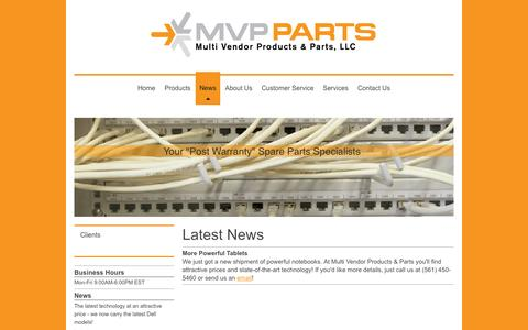 Screenshot of Press Page mvppartsonline.com - Multi Vendor Products & Parts MVP Parts - News - captured Sept. 26, 2015