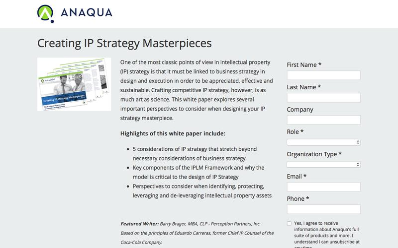Creating IP Strategy Masterpieces