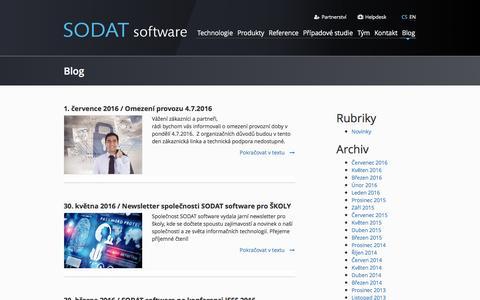 Screenshot of Blog sodat.com - Blog - captured Aug. 16, 2016