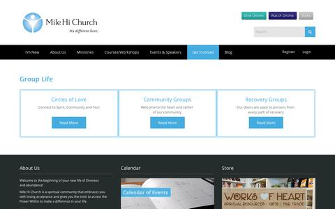 Screenshot of Signup Page milehichurch.org - Mile Hi Church > Get Involved > Group Life - captured June 18, 2017