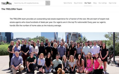 Screenshot of Team Page trelora.com - Meet the TRELORA Team of Real Estate Agents - captured Feb. 9, 2020