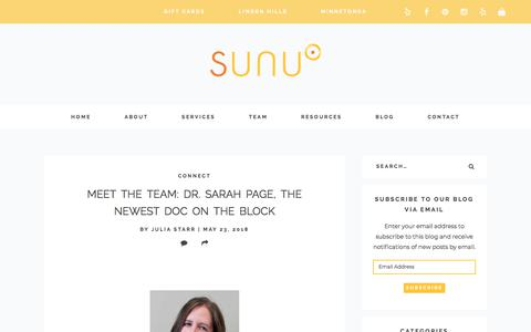 Screenshot of Blog sunuwellness.com - Blog • Sunu Wellness Center - captured Sept. 21, 2018