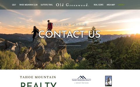Screenshot of Contact Page oldgreenwood.com - Contact | Old Greenwood - captured Oct. 23, 2018