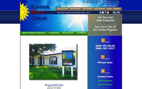 Screenshot of Contact Page mirasolfafco.com - Contact | Mirasol Solar - Solar Electric, Renewable Energy - captured Oct. 7, 2014