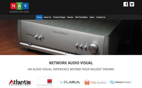 Screenshot of Home Page networkav.com.au - NETWORK AUDIO VISUAL - Network Audio Visual - captured Nov. 29, 2016