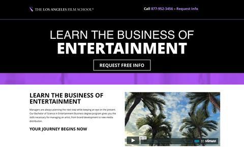 Screenshot of Landing Page lafilm.edu - go.lafilm.edu  entertainment business - go.lafilm.edu - captured Aug. 3, 2016