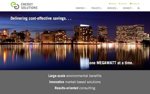 Screenshot of Home Page energy-solution.com - Energy Solutions | Market-based energy solutions - captured Jan. 23, 2015
