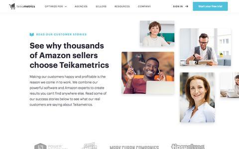 Screenshot of teikametrics.com - Teikametrics :: Sellers - captured Nov. 19, 2017