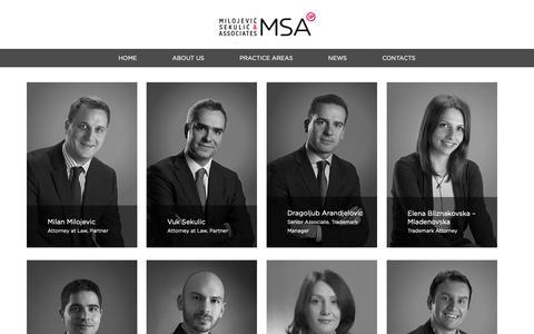 Screenshot of Team Page msa-iplaw.com - MSA - captured Oct. 1, 2018