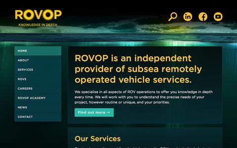 Screenshot of Home Page rovop.com - ROVOP - captured Sept. 17, 2014