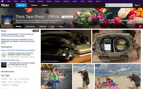 Screenshot of Flickr Page flickr.com - Flickr: The Think Tank Photo - Official Pool - captured Oct. 29, 2014