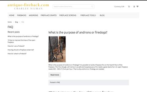 Screenshot of FAQ Page firebacks.net - FAQ - captured Nov. 21, 2016