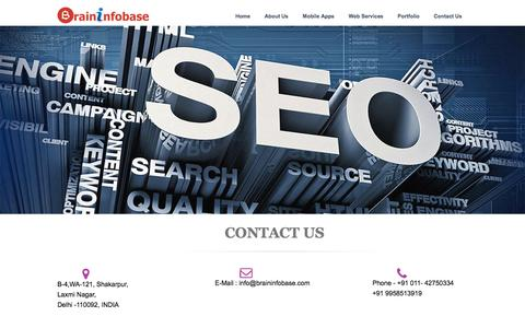 Screenshot of Contact Page braininfobase.com - India To Cross U.S. Become Second-Largest Internet Market Soon - Brininfobase Technologies - captured Feb. 8, 2016