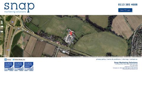 Screenshot of Maps & Directions Page snap-solutions.co.uk - map » - captured Oct. 26, 2014