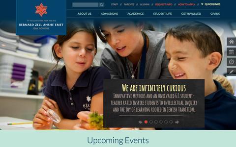 Screenshot of FAQ Page bzaeds.org - Bernard Zell Anshe Emet Day School - captured Oct. 5, 2014
