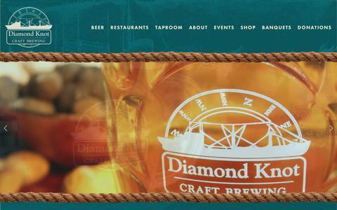 Screenshot of About Page diamondknot.com - About — Diamond Knot Brewing - captured Oct. 9, 2018