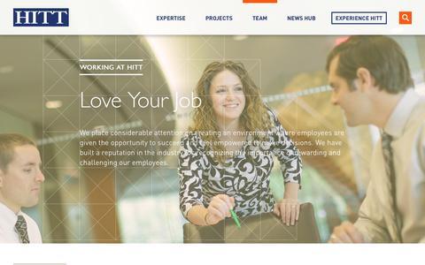 Screenshot of Jobs Page hitt.com - Working at HITT | HITT - captured May 6, 2017