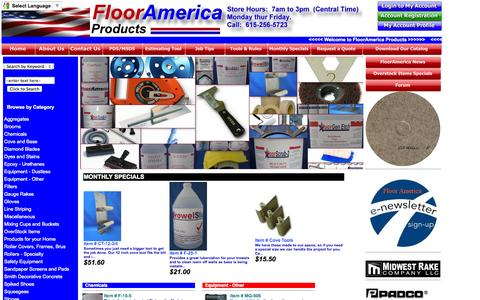 Screenshot of Home Page flooramerica.com - FLOOR AMERICA, On-Line Catalog - captured Oct. 6, 2014