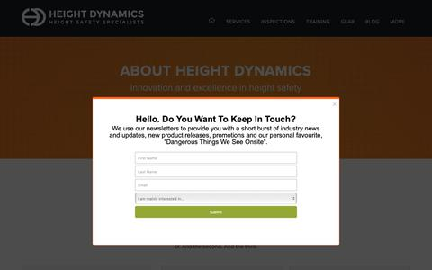 Screenshot of Contact Page heightdynamics.com.au - Contact Height Dynamics - Phone, Email or Find Us Instore - captured June 14, 2019