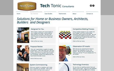 Screenshot of Services Page thetechtonics.com - Tech Tonic Consultants Client Services - captured Nov. 29, 2016