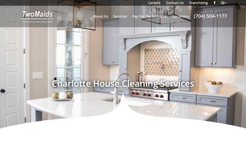 Screenshot of Services Page twomaidscharlotte.com - Two Maids & A Mop Charlotte | Maid Cleaning Services - captured Oct. 24, 2017
