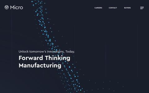 Screenshot of Team Page mic-tec.com - Leadership | Micro - Forward Thinking Manufacturing - captured Oct. 1, 2018