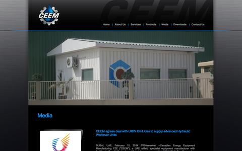 Screenshot of Press Page ceemfze.ae - Welcome to CEEM - captured Oct. 1, 2014