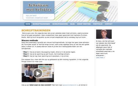 Screenshot of Home Page schrijvenmetbeloftes.nl - Schrijven met beloftes - captured May 17, 2017