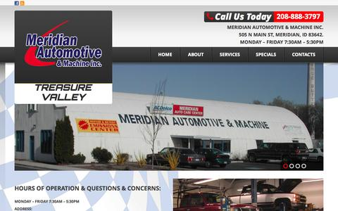 Screenshot of FAQ Page meridianautocare.com - FAQ'S | Meridian Automotive & Machine Inc. - captured Oct. 27, 2014