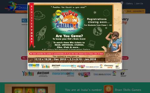 Screenshot of Home Page skillangels.com - SkillAngels – Million Minds to be Engaged, Billion Brains to be Enriched - captured Jan. 3, 2016
