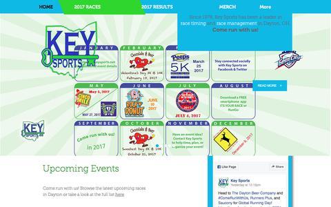 Screenshot of Home Page keysports.net - Key Sports | THE ORIGINAL RACE TIMING COMPANY IN DAYTON OHIO - captured June 9, 2017